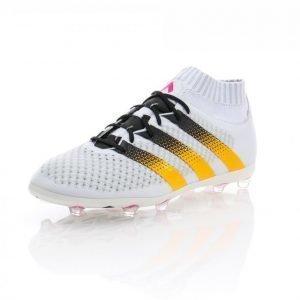 Adidas Ace 16.1 Primeknit Fg/Ag Jalkapallokengät Nurmelle Valkoinen