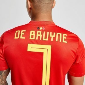 Adidas Belgium 2018 De Bruyne #7 Home Shirt Punainen