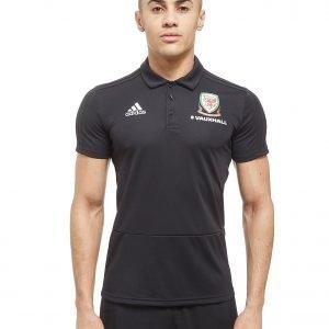 Adidas Fa Wales 2018 Polo Shirt Musta