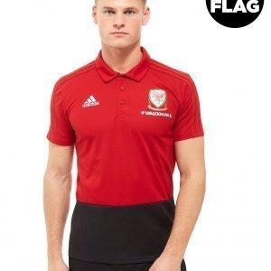 Adidas Fa Wales 2018 Polo Shirt Punainen