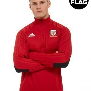 Adidas Fa Wales 2018/19 Half Zip Top Punainen