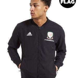 Adidas Fa Wales 2018/19 Presentation Jacket Musta