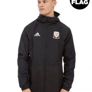 Adidas Fa Wales 2018/19 Rain Jacket Musta