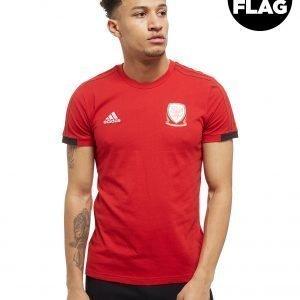 Adidas Fa Wales 2018/19 T-Shirt Punainen