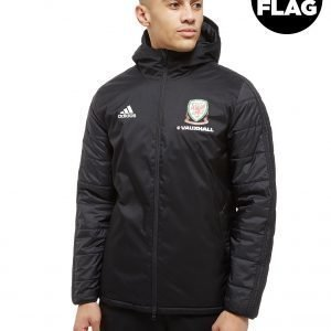 Adidas Fa Wales 2018/19 Winter Jacket Musta