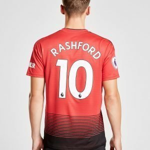 Adidas Manchester United 2018/19 Rashford #10 Home Shirt Punainen