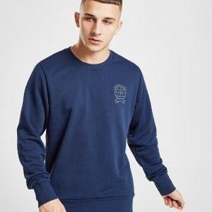 Adidas Manchester United Fc Crew Sweatshirt Laivastonsininen