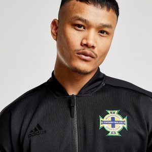 Adidas Northern Ireland 2018/19 Anthem Jacket Musta