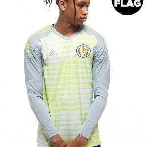 Adidas Scotland 2018/19 Home Goalkeeper Shirt Harmaa