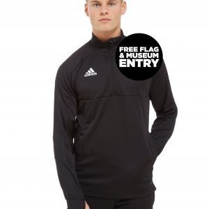 Adidas Scotland Fa 2018/19 Half Zip Top Musta
