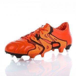 Adidas X 15.1 Sg Leather Jalkapallokengät Nurmelle Punainen / Musta / Oranssi