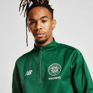 New Balance Celtic Fc 2018/19 1/4 Zip Tech Top Vihreä