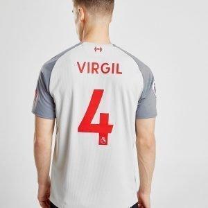New Balance Liverpool Fc 2018/19 Virgil #4 Third Shirt Harmaa