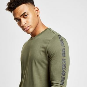 Nike Fc Long Sleeve Tape T-Paita Khaki / Black