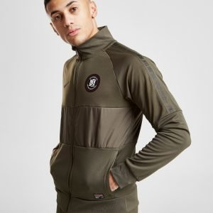 Nike Fc Panel Tape Track Top Khaki