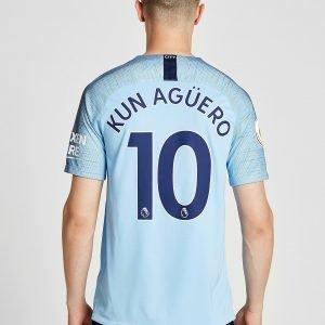 Nike Manchester City Fc 2018/19 Aguero #10 Home Shirt Sininen