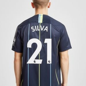 Nike Manchester City Fc 2018/19 Silva #21 Away Shirt Laivastonsininen
