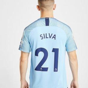 Nike Manchester City Fc 2018/19 Silva #21 Home Shirt Sininen