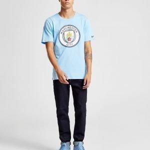 Nike Manchester City Fc Crest T-Shirt Sininen