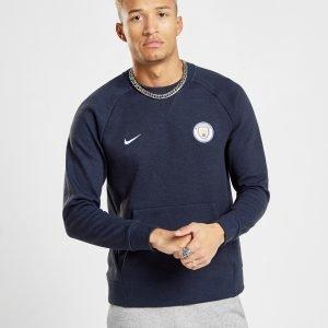 Nike Manchester City Fc Crew Sweatshirt Sininen