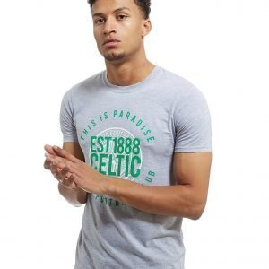 Official Team Celtic Paradise T-Shirt Harmaa