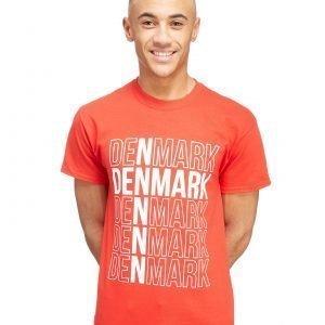 Official Team Denmark Flag T-Shirt Punainen