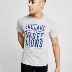 Official Team England Three Lions T-Shirt Harmaa