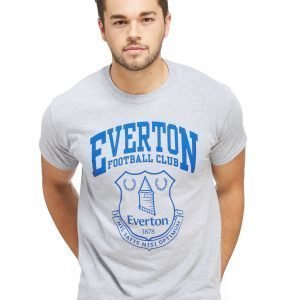 Official Team Everton F.C Crest T-Shirt Harmaa