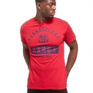 Official Team Fc Barcelona Camp Nou T-Shirt Punainen