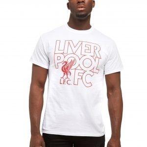 Official Team Liverpool Fc Liverbird T-Shirt Valkoinen