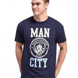 Official Team Manchester City F.C Block T-Shirt Laivastonsininen