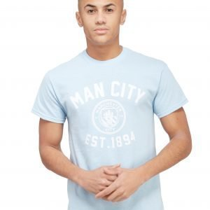 Official Team Manchester City F.C Stadium T-Shirt Sky Blue