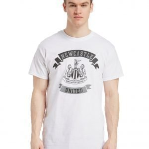 Official Team Newcastle United Scroll T-Shirt Valkoinen