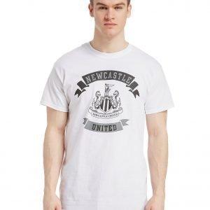 Official Team Newcastle United Scroll T-Shirt Valkoinen