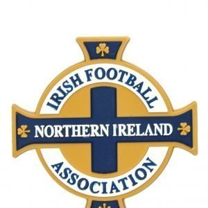 Official Team Northern Ireland 3d Crest Magnet Valkoinen