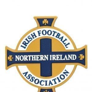 Official Team Northern Ireland 3d Crest Magnet Valkoinen
