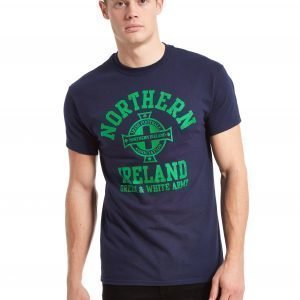 Official Team Northern Ireland Arch T-Shirt Laivastonsininen