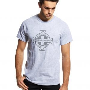Official Team Northern Ireland Crest T-Shirt Grey Marl