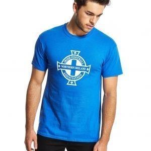 Official Team Northern Ireland Crest T-Shirt Royal Blue