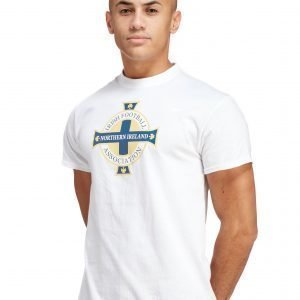 Official Team Northern Ireland Crest T-Shirt Valkoinen
