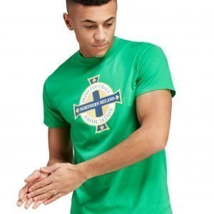 Official Team Northern Ireland Crest T-Shirt Vihreä