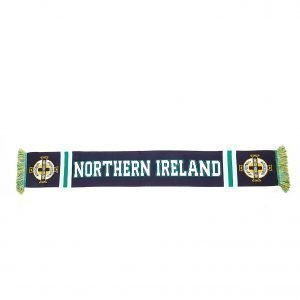 Official Team Northern Ireland Jacquard Scarf Laivastonsininen