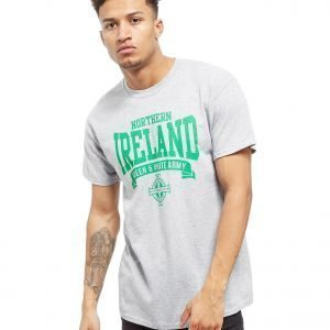 Official Team Northern Ireland Scroll T-Shirt Heather Grey