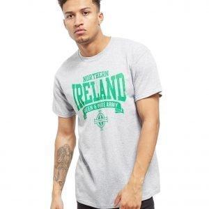 Official Team Northern Ireland Scroll T-Shirt Heather Grey