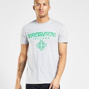 Official Team Northern Ireland Split T-Shirt Harmaa
