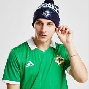Official Team Northern Ireland Text Knitted Bobble Hat Laivastonsininen