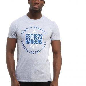 Official Team Rangers Fc Established 1872 T-Shirt Harmaa