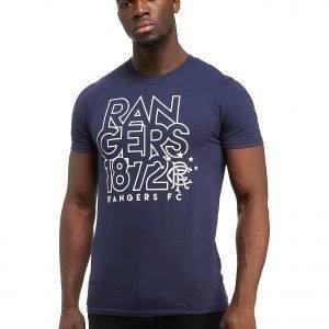 Official Team Rangers Fc Logo T-Shirt Sininen