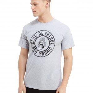 Official Team Real Madrid Seal Short Sleeve T-Shirt Harmaa