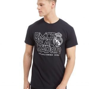 Official Team Real Madrid Stack Short Sleeve T-Shirt Musta